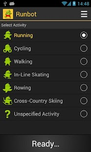 Runbot Sports Tracker - screenshot thumbnail