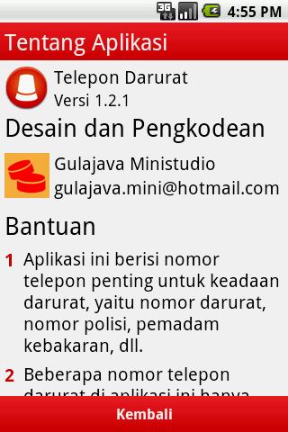 Telepon Darurat- screenshot