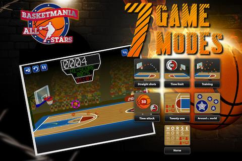 Basketmania All Stars: captura de pantalla