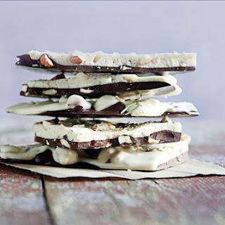 Double Chocolate Bark With Salted Almonds