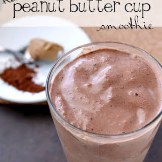 Healthy Peanut Butter Cup Smoothie.