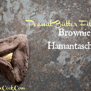 Peanut Butter Filled Brownie Hamantaschen.