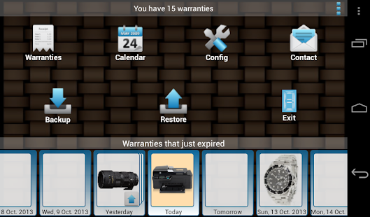My Warranties Lite- screenshot thumbnail
