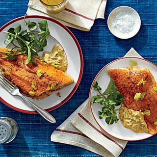 Crab-Stuffed Catfish Fillets with Cajun Remoulade.