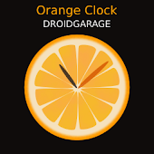 Orange Clock Widget