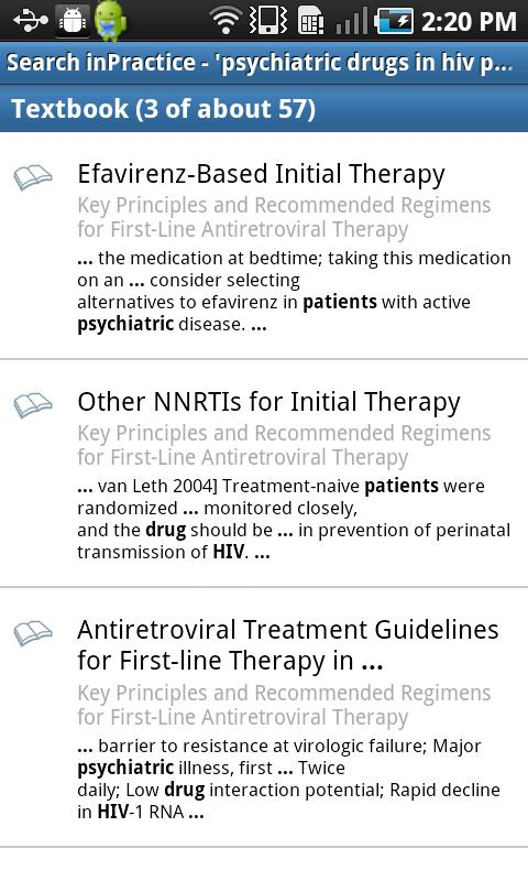 inPractice® HIV - screenshot