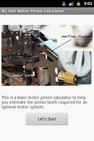 Heli Pinion Calculator