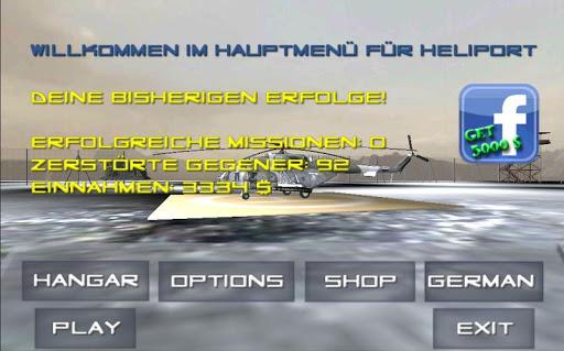 Heliport 3D Kampfhubschrauber
