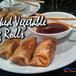 Baked Vegetable Egg Rolls With Dipping Sauce