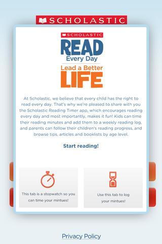 Scholastic Reading Timer - screenshot