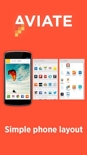 Aviate es un nuevo launcher distinto a lo que estamos acostumbrados, ¿En qué sentido? Este te clasifica automáticamente todas tus aplicaciones, y de forma inteligente reorganiza tu pantalla durante todo el día para darte la información que más necesitas, precisamente en el momento que lo necesites. Aviate es una pantalla de inicio inteligente que organiza el teléfono alrededor de tu estilo de vida. Lo mejor de Aviate está disponible para todas las versiones de Android desde la 2.3 en adelante. Aunque está en versión Alpha al usarla no tuve ningún inconveniente al utilizarla.
