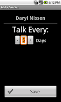 Screenshot of Keep In Touch Call Reminder