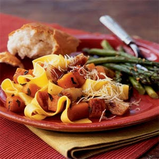 Pasta with Roasted Butternut Squash and Shallots
