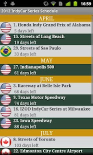 2017 IndyCar Series Schedule- screenshot thumbnail