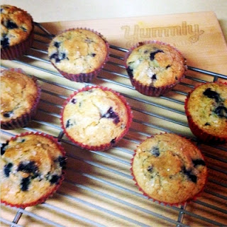 Super Moist Blueberry Muffins.