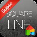Square line dodol theme icon