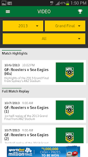 Official NRL App 2014 - screenshot thumbnail