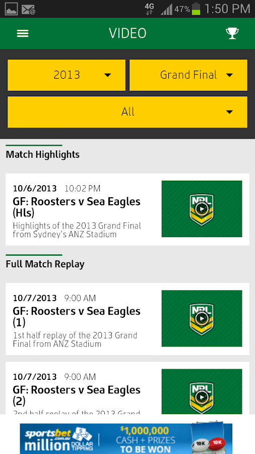 NRL Official App - screenshot