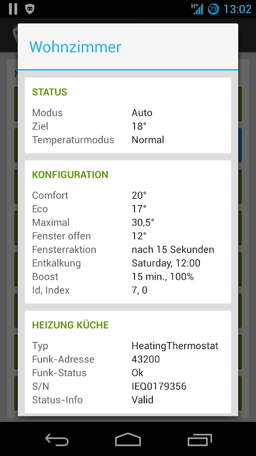MAX! Heating control- screenshot