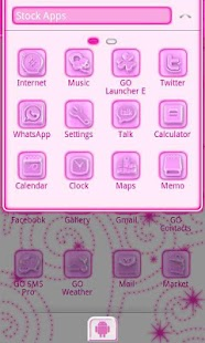 Pink Chill Go Launcher Ex - screenshot thumbnail