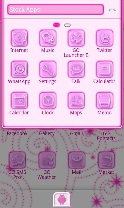 Pink Chill Go Launcher Ex - screenshot
