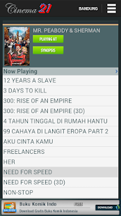 Jadwal Cinema 21- screenshot thumbnail