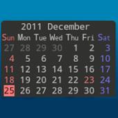 No Frills Calendar