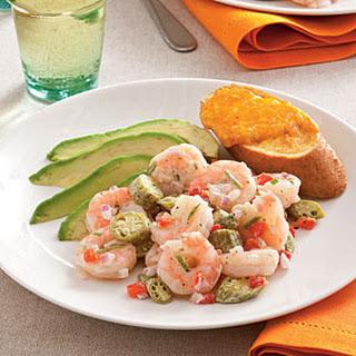 Pickled Okra and Shrimp Salad.