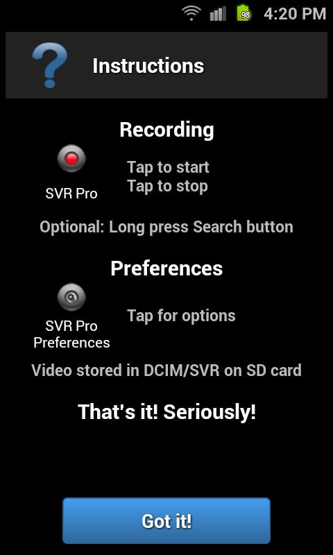 Secret Video Recorder Pro - screenshot