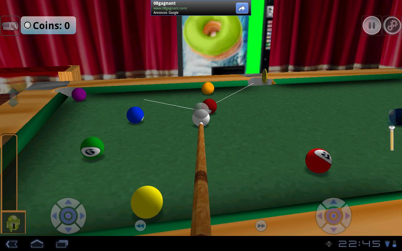 DroidPool 3D - screenshot