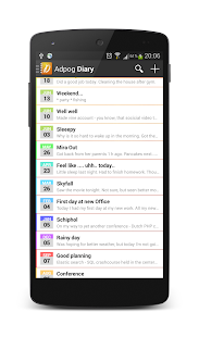 Diary notes - screenshot thumbnail