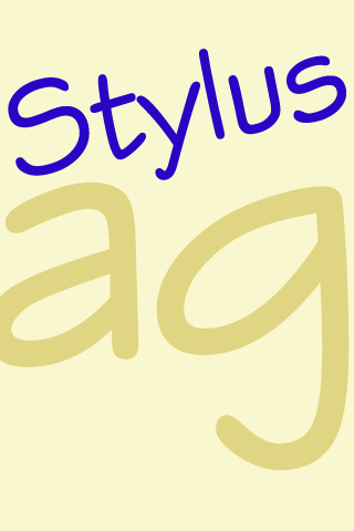 Stylus FlipFont- screenshot