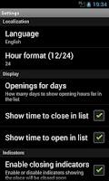 Screenshot of My Opening Hours Pro