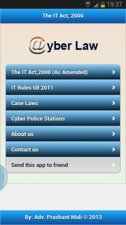 IT Act 2000-Cyber Law - screenshot