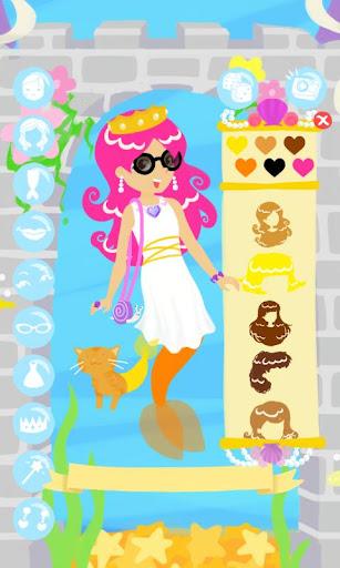 マーメイド ファッション ショー ゲームをドレスアップ
