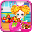 Baby Strawberry Cake Cooking icon