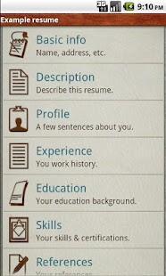 Pocket Resume - screenshot thumbnail
