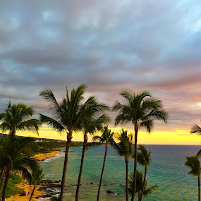 Maui Sunset by Lori Nordlund - Landscapes Waterscapes