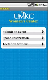UMKC Women's Center- screenshot thumbnail