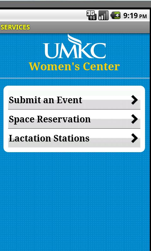 UMKC Women's Center - screenshot