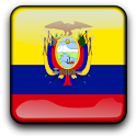 Ecuador Flag Clock Widget