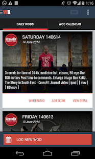 WODBook - Your WOD Tracker Fitness app screenshot for Android