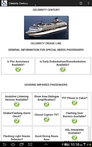 Barrier-Free Celebrity Cruises