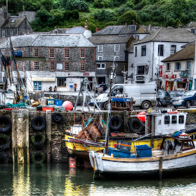 high and dry in Mevagissey by Ray Heath - City,  Street & Park  Historic Districts ( uk, fishing boats, harbour, tourism, heritage, cornwall,  )