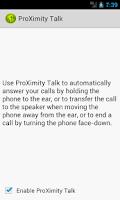 Screenshot of ProXimity Talk Trial