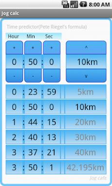 Jog calc マラソン換算・早見表アプリ(⇔10km)のおすすめ画像1