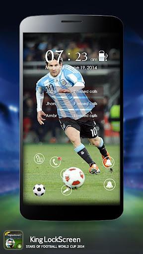 足球 2014年锁屏界面