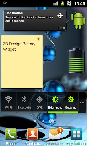 3D Design Battery Widget R7