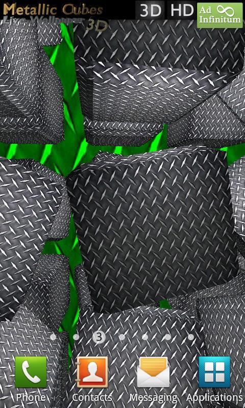 Metallic Cubes Live Wallpaper- screenshot