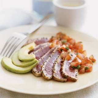 Seared Tuna with Japanese Salsa.